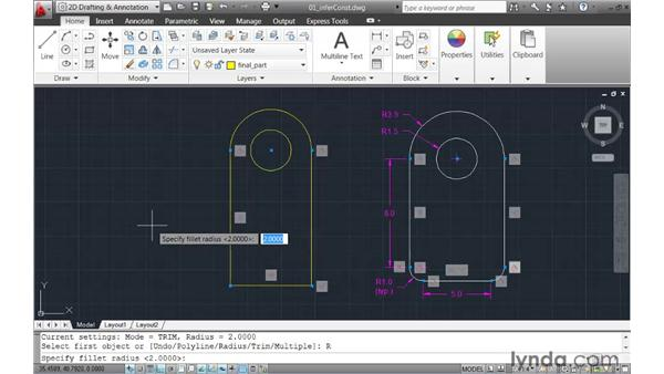 Automating the creation of geometric constraints: AutoCAD 2011 New Features