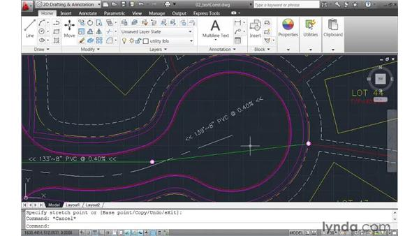 Applying constraints to text rotation: AutoCAD 2011 New Features