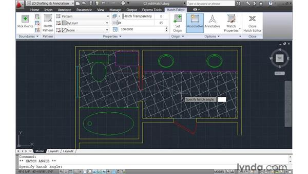 Editing hatch objects dynamically: AutoCAD 2011 New Features