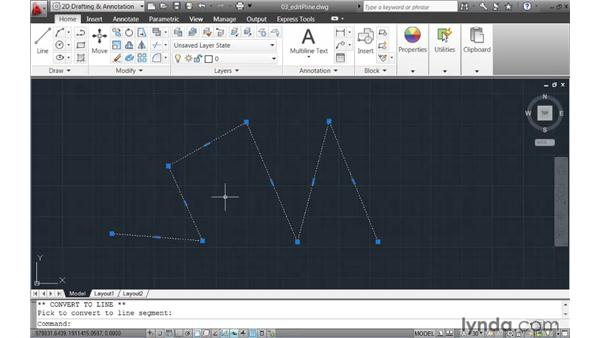Editing polylines using multifunctional grips: AutoCAD 2011 New Features