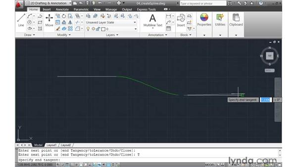 Creating splines using fit points or control vertices: AutoCAD 2011 New Features