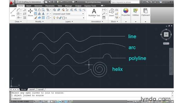 Using the JOIN command to connect contiguous geometry: AutoCAD 2011 New Features