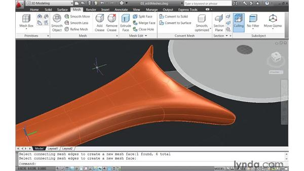 Introducing new tools to edit mesh models: AutoCAD 2011 New Features