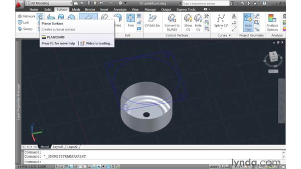 Filleting the edge between two surfaces: AutoCAD 2011 New Features