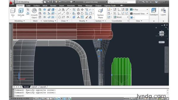 Assembling the composite model: AutoCAD 2011 New Features