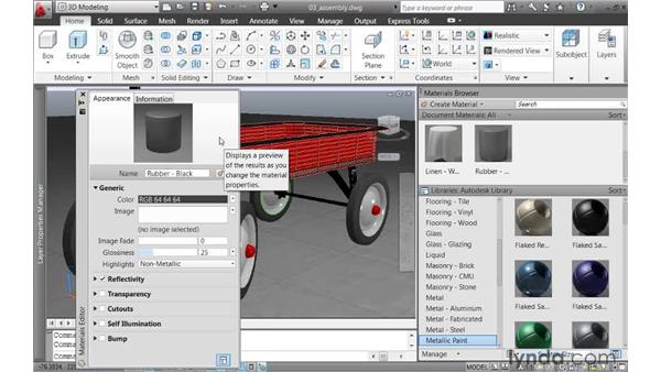 Customizing render materials: AutoCAD 2011 New Features