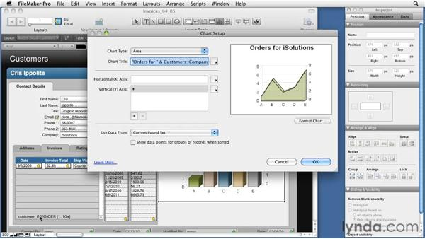 Using charts with related data: FileMaker Pro 11 New Features