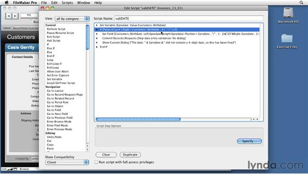Learning about the OnObjectValidate trigger: FileMaker Pro 11 New Features