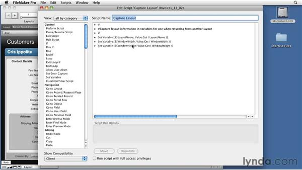 Learning about the OnLayoutExit trigger: FileMaker Pro 11 New Features