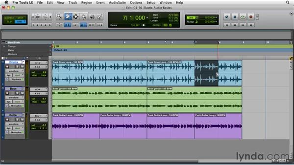 Understanding Elastic Audio: Pro Tools Projects: Time Manipulation with Elastic Audio