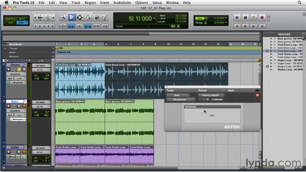 Using Pro Tools Elastic Audio plug-ins: Pro Tools Projects: Time Manipulation with Elastic Audio