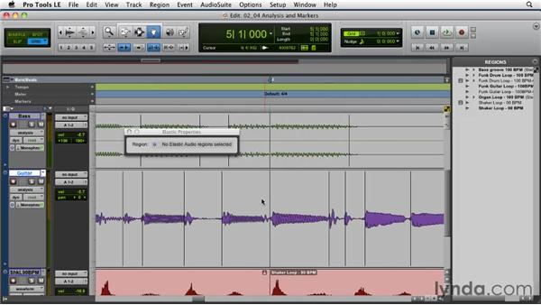 Understanding Elastic Audio analysis and event markers: Pro Tools Projects: Time Manipulation with Elastic Audio