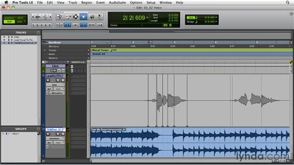 Elastic Audio workflows: Working with voice: Pro Tools Projects: Time Manipulation with Elastic Audio