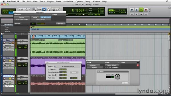 Elastic Audio workflows: Getting creative: Pro Tools Projects: Time Manipulation with Elastic Audio