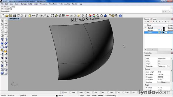 Comparing Bezier curves, B-splines, and NURBS objects: Rhino 4 Essential Training
