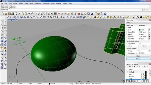 Using the Properties window: Rhino 4 Essential Training