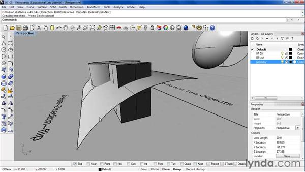 Troubleshooting solids and Booleans: Rhino 4 Essential Training