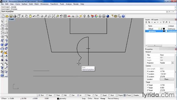 Understanding the Project and Smart Track modeling aids: Rhino 4 Essential Training