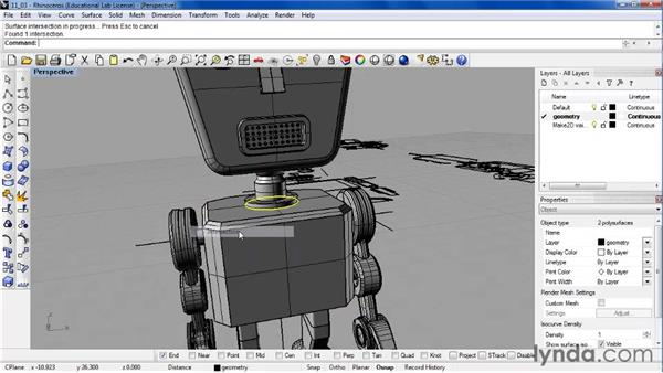 Creating 2D views of a 3D model: Rhino 4 Essential Training