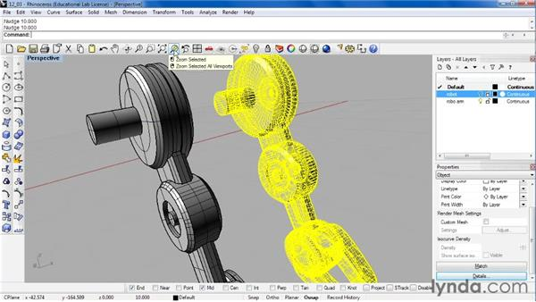 Exporting to the STL format for 3D printing: Rhino 4 Essential Training