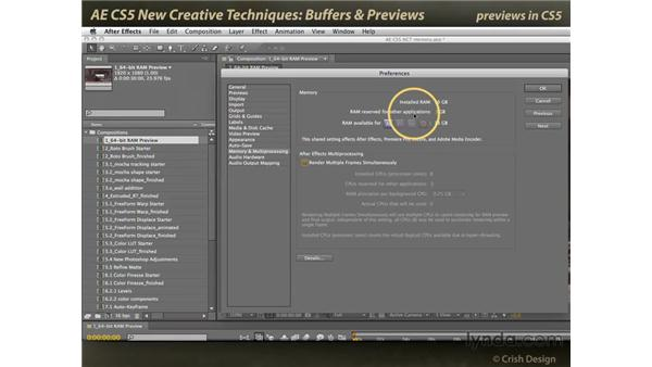 Buffers and previews: After Effects CS5 New Creative Techniques