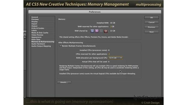 Memory management: After Effects CS5 New Creative Techniques