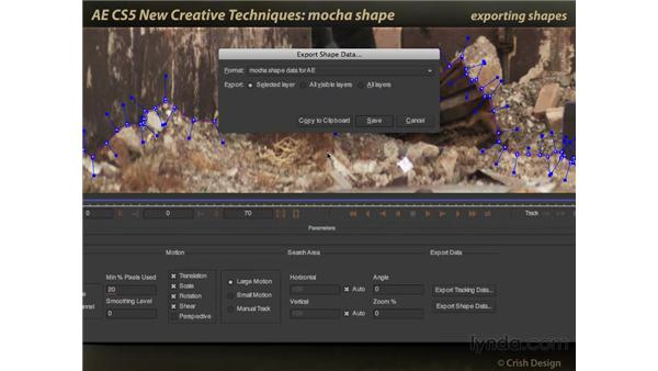 mocha shape: After Effects CS5 New Creative Techniques