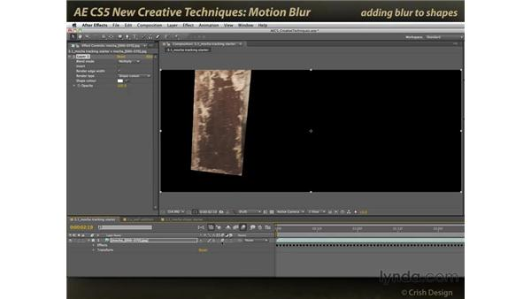 Motion blur and mocha: After Effects CS5 New Creative Techniques