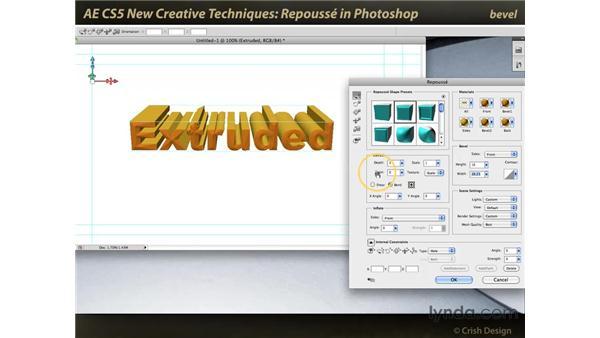 Repoussé in Photoshop CS5: After Effects CS5 New Creative Techniques