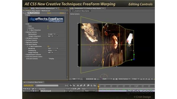 Warping with FreeForm: After Effects CS5 New Creative Techniques