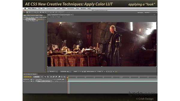 Apply Color LUT: After Effects CS5 New Creative Techniques