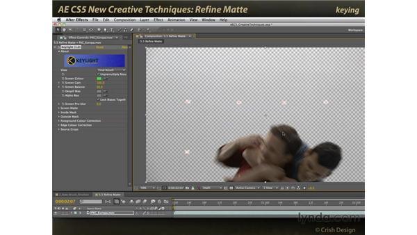 Refine Matte: After Effects CS5 New Creative Techniques