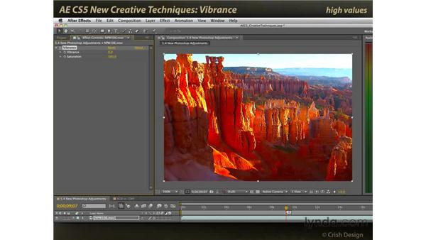 Vibrance: After Effects CS5 New Creative Techniques