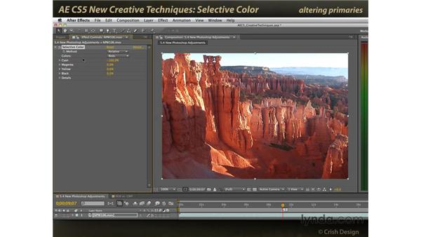 Selective Color: After Effects CS5 New Creative Techniques