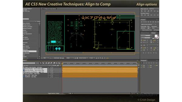 Align to comp: After Effects CS5 New Creative Techniques