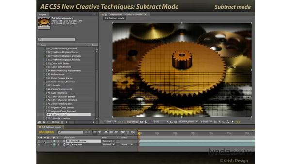 Subtract mode: After Effects CS5 New Creative Techniques