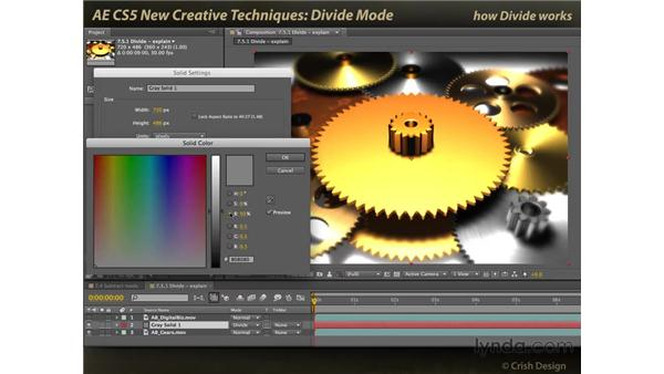 Divide mode: After Effects CS5 New Creative Techniques