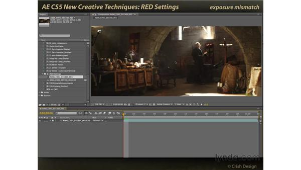 RED settings: After Effects CS5 New Creative Techniques