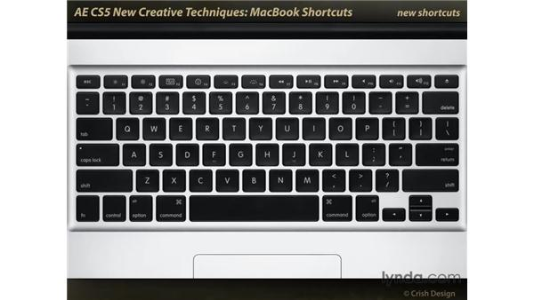 MacBook shortcuts: After Effects CS5 New Creative Techniques