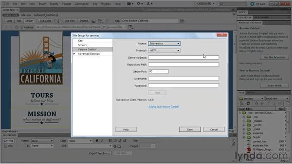 New services integration: Dreamweaver CS5 New Features