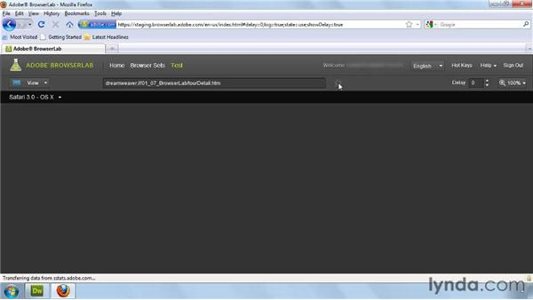 Using Browser Lab: Dreamweaver CS5 New Features