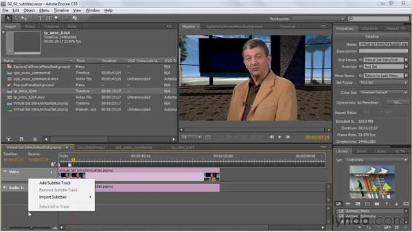Exporting subtitles to use as searchable text: Encore CS5 New Features