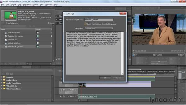 Working with speech-to-text metadata created in Premiere Pro: Encore CS5 New Features