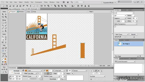 Using the Compound Shape tool: Fireworks CS5 New Features