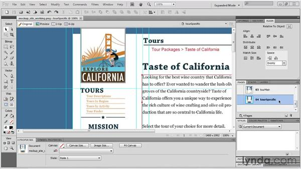 Using Page Preview: Fireworks CS5 New Features