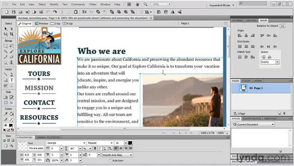 Using the new typographic features: Fireworks CS5 New Features