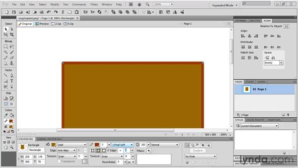 Using the Snap to Pixel command: Fireworks CS5 New Features