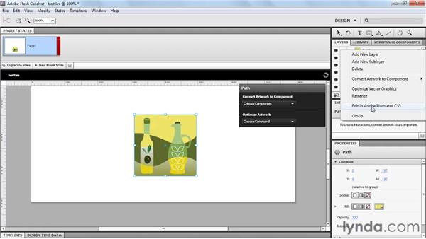 Exporting pages and objects as FXG for Flash Catalyst: Fireworks CS5 New Features