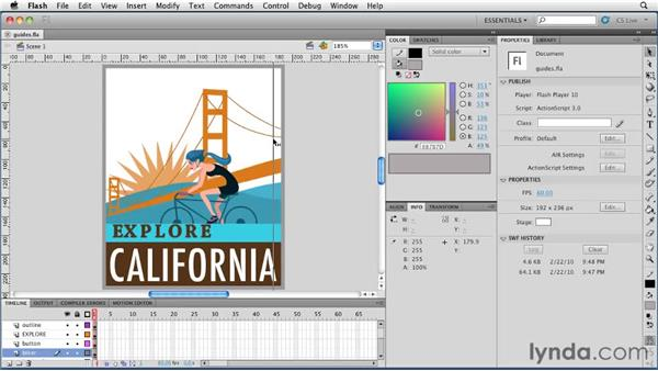 Using the new guide features: Flash Professional CS5 New Features