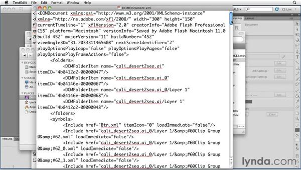 Understanding the XML files: Flash Professional CS5 New Features